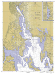 Providence River 1946 - Old Map Nautical Chart AC Harbors 278 - Rhode Island