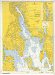 Providence River 1954 - Old Map Nautical Chart AC Harbors 278 - Rhode Island