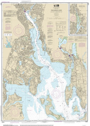 Providence River 2013 - Old Map Nautical Chart AC Harbors 13224 - Rhode Island