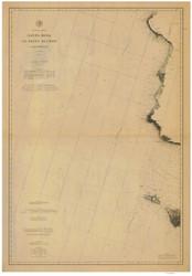 Santa Rosa to Point Buchon 1886a Nautical Map Reprint 5300 California - Big Area 1890s