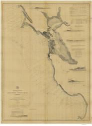 Point Pinos to Bodega Head 1882 Nautical Map Reprint 5500 California - Big Area 1890s