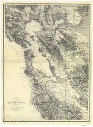San Francisco Bay Area 1873 Nautical Map Reprint 5500 California - Big Area 1890s