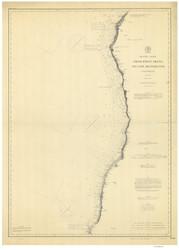 Point Arena to Cape Mendocino 1888 Nautical Map Reprint 5700 California - Big Area 1890s