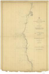 Pt. St. George to Umpqua River 1891 Nautical Map Reprint 5900 California - Big Area 1890s