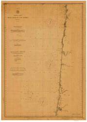 Umpqua River to Cape Lookout 1891 Nautical Map Reprint 6000 California - Big Area 1890s