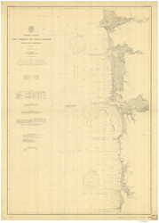 Cape Lookout to Grays Harbor 1901 Nautical Map Reprint 6100 California - Big Area 1890s