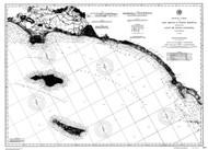 San Diego to Santa Monica 1890c Nautical Map Reprint 5100 California - Big Area 1890s