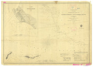 Santa Barbara Channel Entrance 1857 Nautical Map Reprint 5200 California - Big Area 1890s