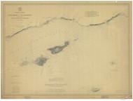 Santa Monica to Point Conception 1882c Nautical Map Reprint 5200 California - Big Area 1890s