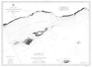 Santa Monica to Point Conception 1882 B&W Nautical Map Reprint 5200 California - Big Area 1890s