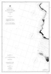 Santa Rosa to Point Buchon 1886 B&W Nautical Map Reprint 5300 California - Big Area 1890s