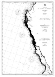 Point Buchon to Point Pinos 1893 B&W Nautical Map Reprint 5400 California - Big Area 1890s
