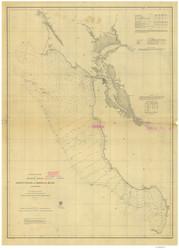 Point Pinos to Bodega Head 1862 Nautical Map Reprint 5500 California - Big Area 1890s