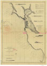 Point Pinos to Bodega Head 1866 Nautical Map Reprint 5500 California - Big Area 1890s
