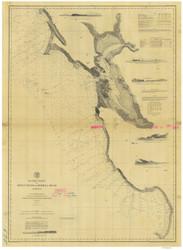 Point Pinos to Bodega Head 1877a Nautical Map Reprint 5500 California - Big Area 1890s