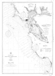 Point Pinos to Bodega Head 1910 B&W Nautical Map Reprint 5500 California - Big Area 1890s