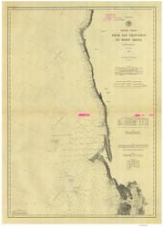San Francisco to Point Arena 1885 Nautical Map Reprint 5600 California - Big Area 1890s