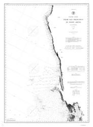 San Francisco to Point Arena 1885 B&W Nautical Map Reprint 5600 California - Big Area 1890s
