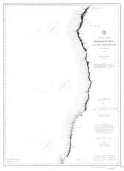Point Arena to Cape Mendocino 1888a B&W Nautical Map Reprint 5700 California - Big Area 1890s