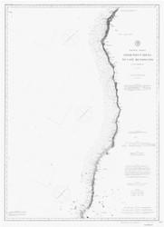 Point Arena to Cape Mendocino 1888b B&W Nautical Map Reprint 5700 California - Big Area 1890s