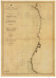Cape Mendocino to Pt. St. George 1891a Nautical Map Reprint 5800 California - Big Area 1890s