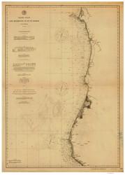 Cape Mendocino to Pt. St. George 1891b Nautical Map Reprint 5800 California - Big Area 1890s