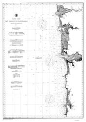 Cape Lookout to Grays Harbor 1897 B&W Nautical Map Reprint 6100 Oregon and Washington - Big Area 1890s