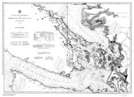Gulf of Georgia and Strait of Juan de Fuca 1895b B&W Nautical Map Reprint 6300 Washington - Big Area 1890s