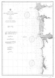Cape Lookout to Grays Harbor 1910 B&W Nautical Map Reprint 6100 Oregon and Washington - Big Area 1890s