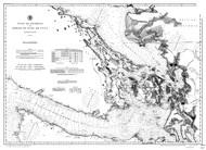 Gulf of Georgia and Strait of Juan de Fuca 1895a B&W Nautical Map Reprint 6300 Washington - Big Area 1890s