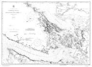Georgia Strait and Strait of Juan de Fuca 1916 B&W Nautical Map Reprint 6300 Washington - Big Area 1890s