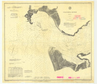 Columbia River Sheet 1 1887 - Old Map Nautical Chart PC Harbors 640 - Oregon