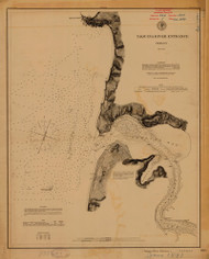 Yaquinna River Entrance 1891 - Old Map Nautical Chart PC Harbors 664 - Oregon