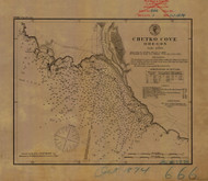 Chetko Cove 1874 - Old Map Nautical Chart PC Harbors 666 - Oregon