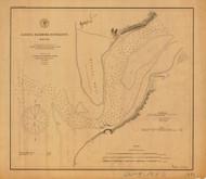 Alseya Harbor Entrance 1880 - Old Map Nautical Chart PC Harbors 691 - Oregon