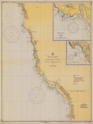 Pyramid Point and Cape Sebastian 1934 - Old Map Nautical Chart PC Harbors 5896 - Oregon