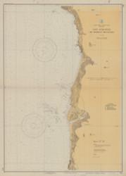 Cape Sebastian to Humbug Mountain 1934 - Old Map Nautical Chart PC Harbors 5951 - Oregon