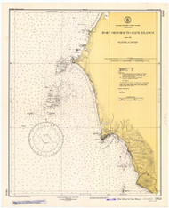 Port Oxford to Cape Blanco 1946 - Old Map Nautical Chart PC Harbors 5952 - Oregon