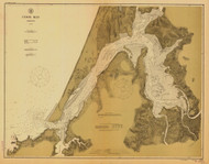 Coos Bay 1912 - Old Map Nautical Chart PC Harbors 5984 - Oregon