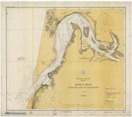 Umpqua River 1928 - Old Map Nautical Chart PC Harbors 6004 - Oregon