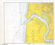 Yaquina Bay and River 1967 - Old Map Nautical Chart PC Harbors 6055 - Oregon