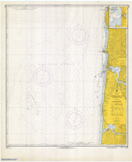 Approaches to Yaquina Bay 1966 - Old Map Nautical Chart PC Harbors 6056 - Oregon