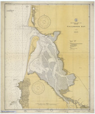Tillamook Bay 1928 - Old Map Nautical Chart PC Harbors 6112 - Oregon