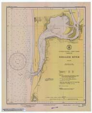 Nehalem River 1947 - Old Map Nautical Chart PC Harbors 6122 - Oregon