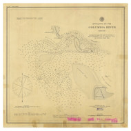 Entrance to the Columbia River 1881 B - Old Map Nautical Chart PC Harbors 639 - Oregon