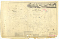 Columbia River Sheet 1 1851 - Old Map Nautical Chart PC Harbors 640 - Oregon