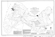 Columbia River Sheet 1 1851 BW - Old Map Nautical Chart PC Harbors 640 - Oregon