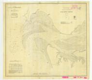 Columbia River Sheet 1 1870 - Old Map Nautical Chart PC Harbors 640 - Oregon