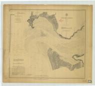 Columbia River Sheet 1 1874 - Old Map Nautical Chart PC Harbors 640 - Oregon