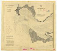 Columbia River Sheet 1 1879 - Old Map Nautical Chart PC Harbors 640 - Oregon